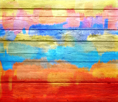 Vintage painted wooden background