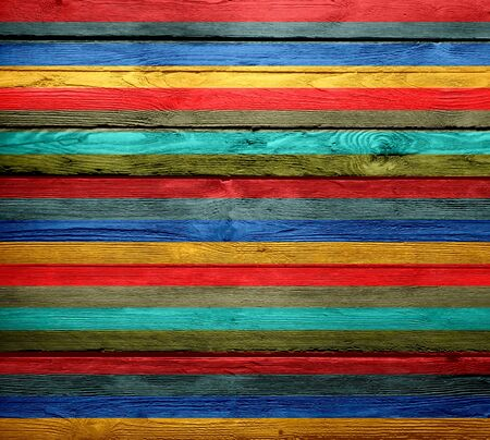 Vintage colorful painted wood background photo