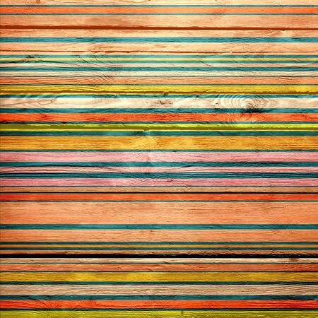 rayures vintage: Rayures vintage fond peint en bois Banque d'images