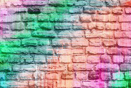 daub: Pastel colored brick wall background