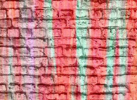 Pastel colored brick wall background photo