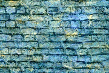 daub: graffiti brick wall  Stock Photo