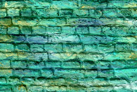 Colored brick wall background photo