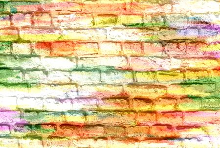 Colorful Brick Wall Background Stock Photo, Picture And Royalty Free ...