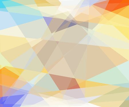 cubism: Retro abstract cubism mosaic background Stock Photo