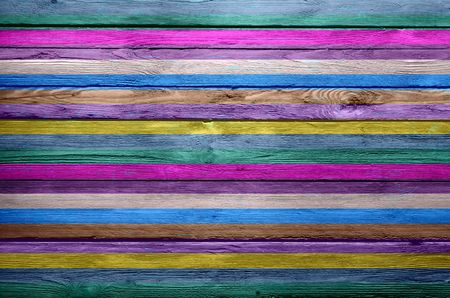 colored stripes vintage wooden background photo