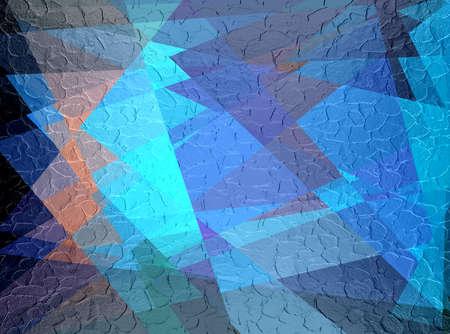Blue Cubism Steel Metal Plate Background
