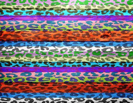 overlays: estampado de leopardo recubre el fondo de madera de la vendimia Foto de archivo