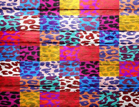 overlays: fondo de madera superpone estampado de leopardo