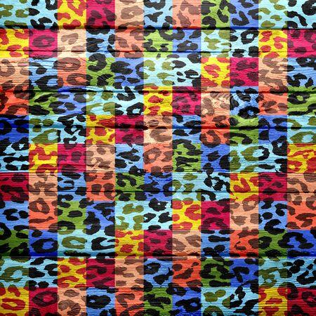 arty: vintage wood background overlays leopard print