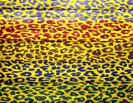 overlays: Fondo de madera de la vendimia se superpone estampado de leopardo