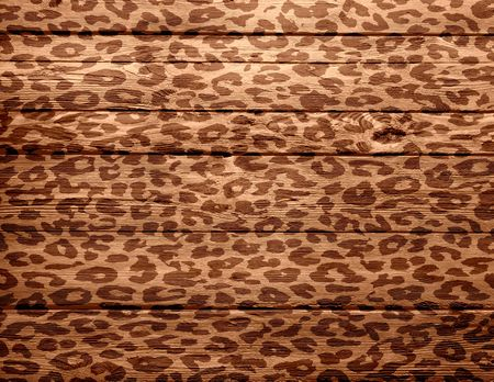 wood background overlays leopard print photo