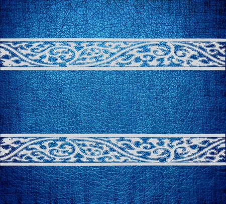 Blue and white damask leather texture background photo