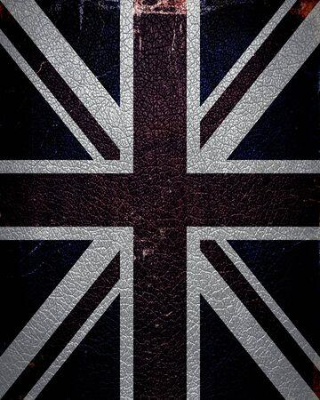 bandera reino unido: Cuero de la bandera del Reino Unido de la vendimia