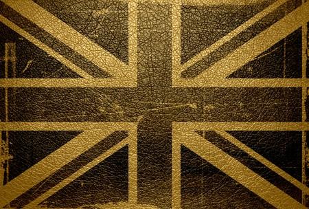 bandera de reino unido: Cuero de la bandera del Reino Unido de la vendimia