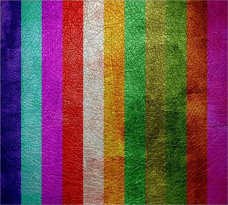 rawhide: multicolor leather texture background Stock Photo