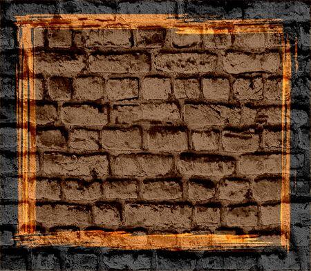 brick wall grunge texture background photo