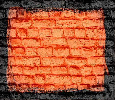 orange brick wall texture background photo
