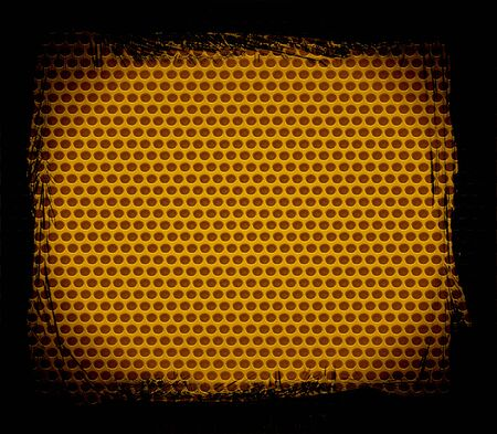 gold steel hole texture background photo