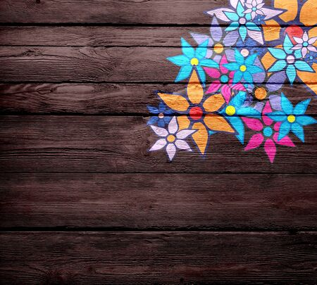 Vintage Pattern with Decorative Flowers photo