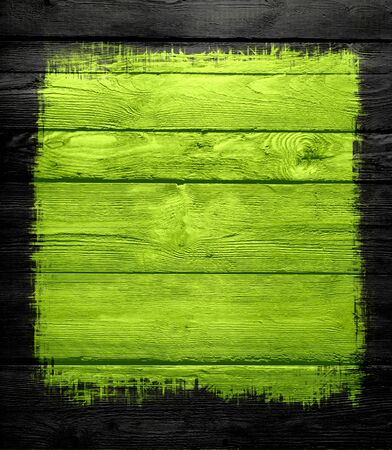 green wooden wall texture background photo
