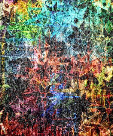 pattern grunge: Art Flower Pattern Grunge Background