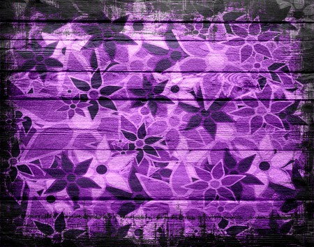 Abstract Art Flower Pattern Vintage Wood photo