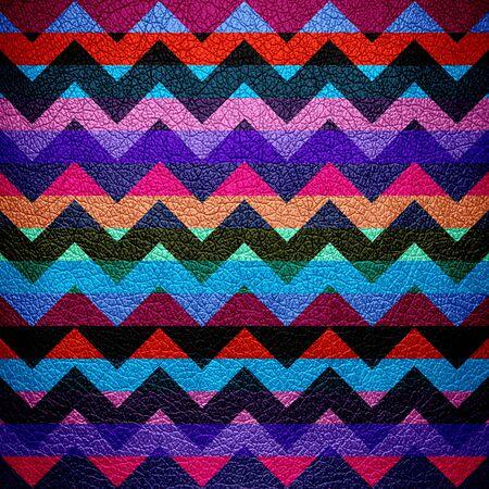 Leather Colorful Chevron Stripes Background photo