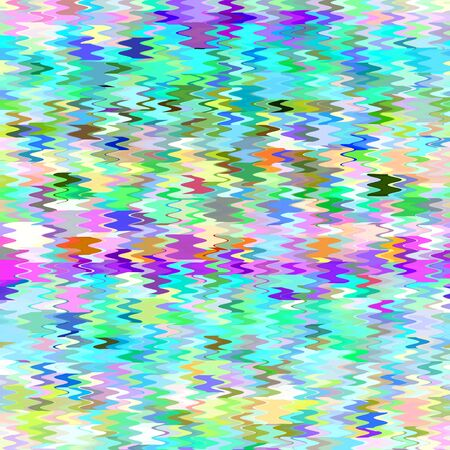 Abstract Colorful Mosaic Wave Pattern photo