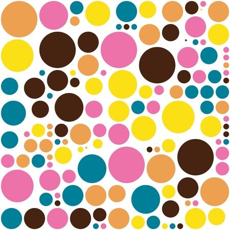 polka dot fabric: Seamless tessuto a pois