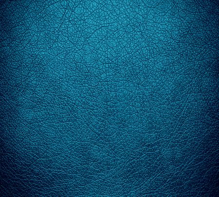 rawhide: Blue leather texture background surface Stock Photo