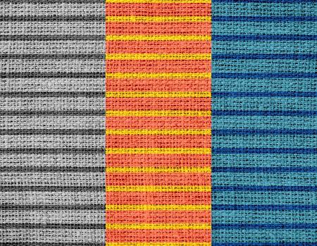 rayures vintage: Vintage Stripes jute lin rustique jute Contexte Banque d'images