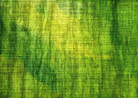 Green Painted Burlap Linen Rustic Jute Background Stock Photo