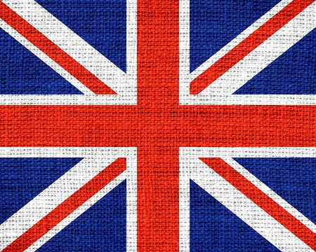 great britain flag: Great Britain Flag Burlap Rustic Jute