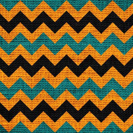 Colorful Seamless Chevron Pattern Burlap Linen Rustic Jute photo