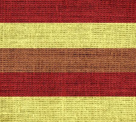 rayures vintage: Vintage stripes burlap jute fabric textured background