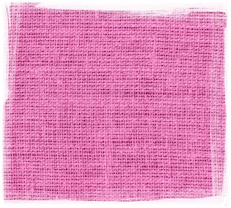 traditional pattern: pink burlap jute fabric with frame textured background