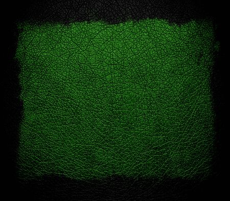 rawhide: green leather background or texture with black frame