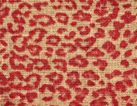 Animal Skin Print Pattern Burlap Rustic Jute Background photo