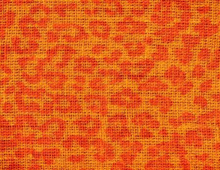Burlap Rustic Jute Background with Animal Skin Print Pattern photo