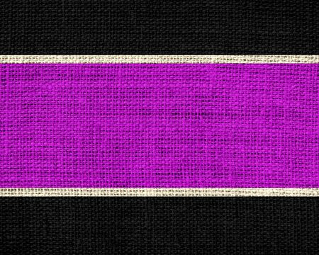 repeating background: magenta and black burlap jute fabric textured background