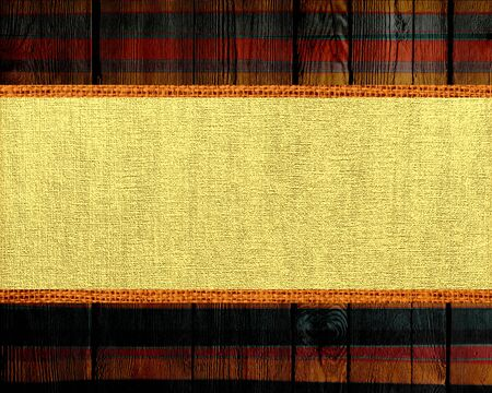 paint brush stroke: Banner Canvas Textured with Paint Brush Stroke Wood Background