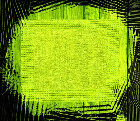 lime green: lime green canvas textured on wood background
