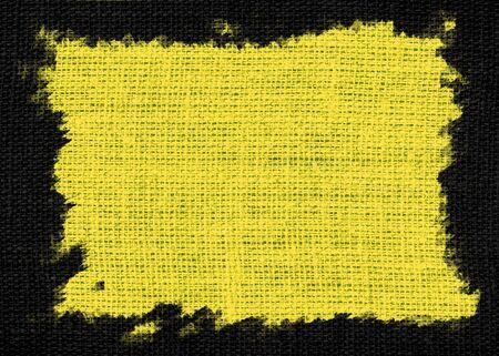 orange peel: yellow burlap textured or background Stock Photo