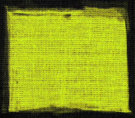 orange peel: green yellow burlap textured or background Stock Photo
