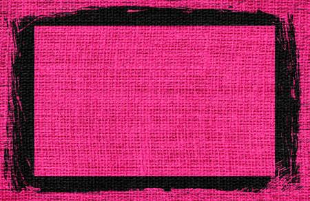 hot pink: hot pink burlap textured background with black frame design
