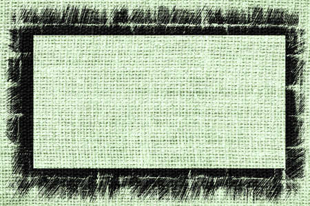 ash: Ash grey burlap textured background with black frame design