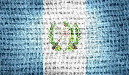 bandera de guatemala: Bandera de Guatemala en tela de arpillera