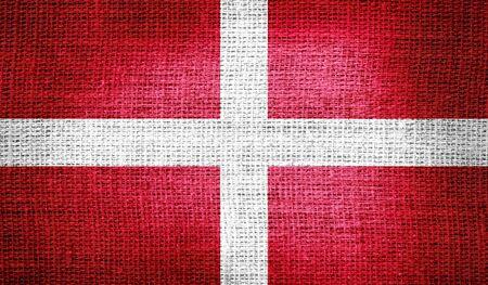 sovereign: Sovereign Military Order of Malta flag on burlap fabric