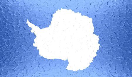 antarctica: Antarctica flag on metallic metal texture